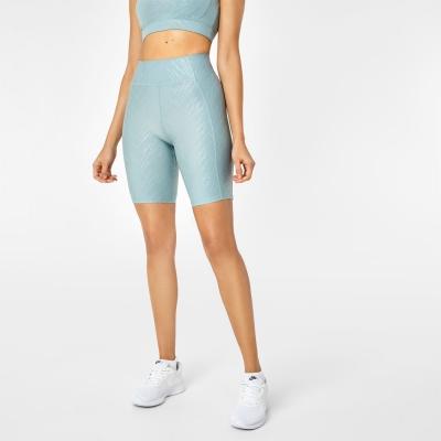 Pantaloni scurti USA Pro ciclism verde negru gloss