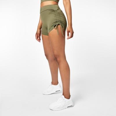 Pantaloni scurti USA Pro x Courtney negru Ruched Ambition 3 Inch kaki