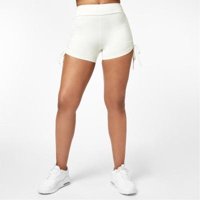 Pantaloni scurti USA Pro x Courtney negru Ruched Ambition 3 Inch off alb
