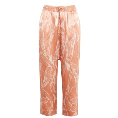 Pantaloni Selected Crop pentru Femei maro