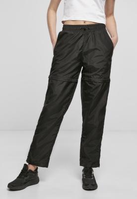 Pantaloni Shiny Crinkle nailon cu fermoar pentru Femei negru Urban Classics