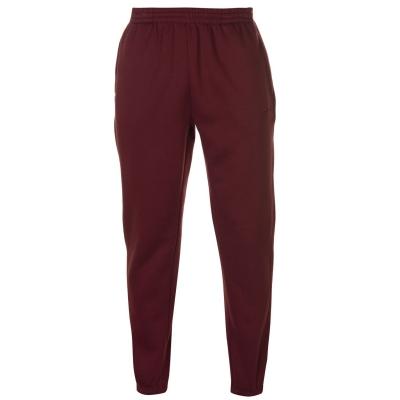 Pantaloni sport cu mansete Slazenger pentru Barbati rosu burgundy