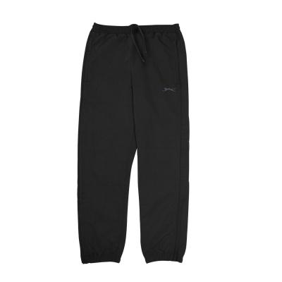 Pantaloni Slazenger cu mansete Woven Juniors negru