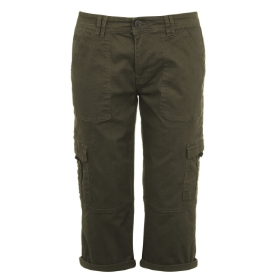 Pantaloni SoulCal Crop Utility pentru Femei kaki