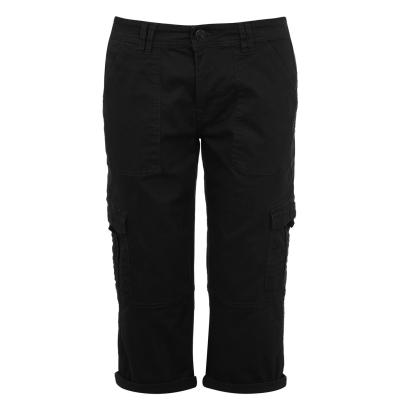 Pantaloni SoulCal Crop Utility pentru Femei negru