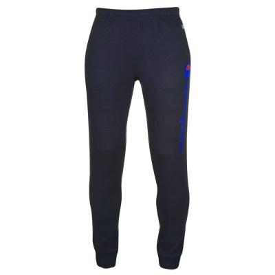 Pantaloni sport Champion cu imprimeu mare cu mansete bleumarin