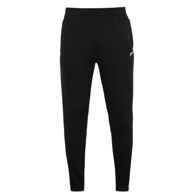 Pantaloni sport cu mansete Slazenger pentru Barbati negru