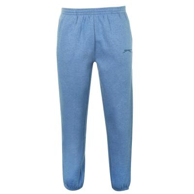 Pantaloni sport cu mansete Slazenger pentru Barbati denim gri