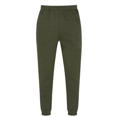 Pantaloni sport cu mansete Slazenger pentru Barbati kaki gri