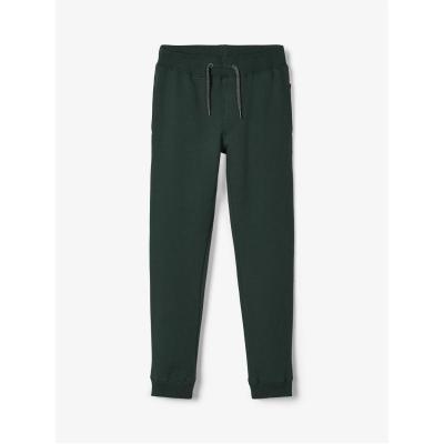 Pantaloni sport Name It bumbac darkest verde