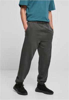 Pantaloni sport Overdyed negru Urban Classics