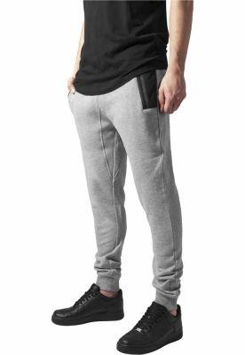Pantaloni sport urban Tech gri-negru Urban Classics