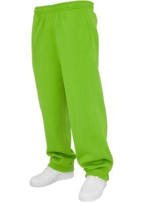 Pantaloni trening simpli pentru copii verde lime Urban Classics