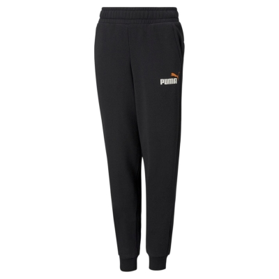 Pantaloni sport Puma No1 Logo pentru baietei negru portocaliu