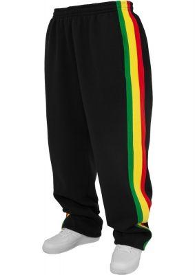 Pantaloni de trening rasta pentru copii negru-rasta Urban Classics