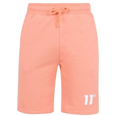 Pantaloni sport scurti 11 Degrees Core coral roz