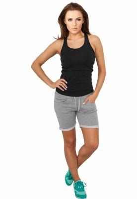 Pantaloni scurti fitness femei gri Urban Classics