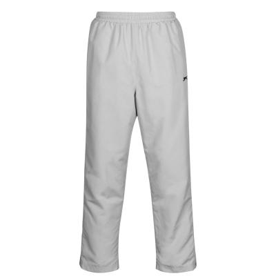 Pantaloni sport Slazenger fara mansete Woven pentru Barbati argintiu