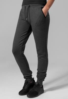 Pantaloni sport stramti Athletic pentru Femei gri-carbune Urban Classics