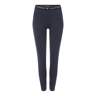 Pantaloni trening Tommy Bodywear Logo cu mansete bleumarin blazer