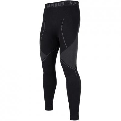 Pantaloni Thermoactive Alpinus Tactical Base Layer negru And gri GT43224 pentru Barbati