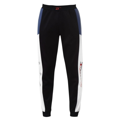 Pantaloni jogging Tommy Sport Reflect pvh negru