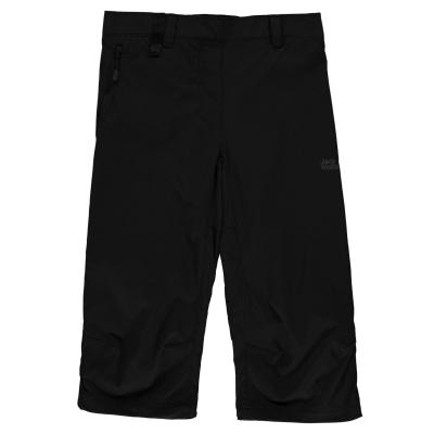 Pantaloni Trei Sferturi Jack Wolfskin Activate pentru Femei negru