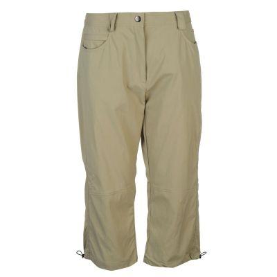 Pantaloni Löffler trei sferturi Outdoor pentru Femei verde