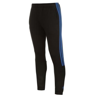 Pantaloni trening adidas 3 cu dungi pentru Barbati negru albastru