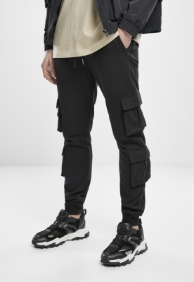 Pantaloni trening buzunar dublu Terry negru Urban Classics