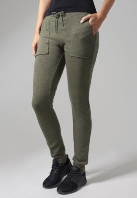 Pantaloni trening conici Fitted pentru Femei oliv Urban Classics