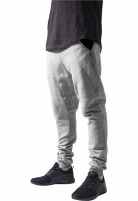 Pantaloni trening conici gri-negru Urban Classics