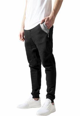 Pantaloni trening conici negru-gri Urban Classics