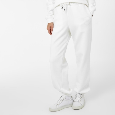 Pantaloni sport Jack Wills Circle Embroidered Relaxed alb