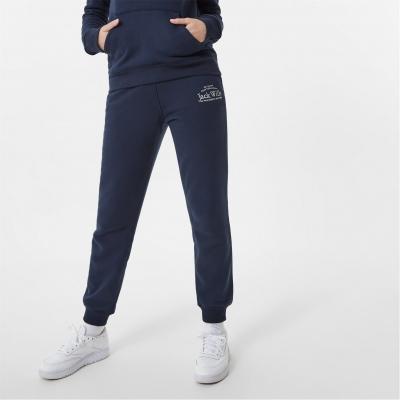 Pantaloni sport Jack Wills Hunston imprimeu Graphic bleumarin
