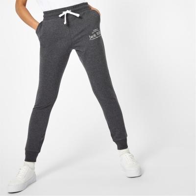 Pantaloni sport Jack Wills Hunston imprimeu Graphic gri carbune