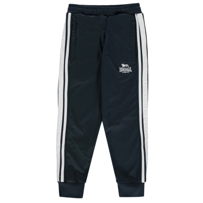 Pantaloni trening Lonsdale pentru baietei bleumarin alb