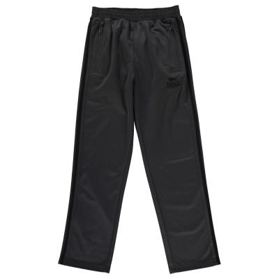 Pantaloni trening Lonsdale pentru baietei gri carbune negru