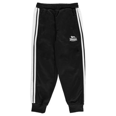Pantaloni trening Lonsdale pentru baietei negru alb