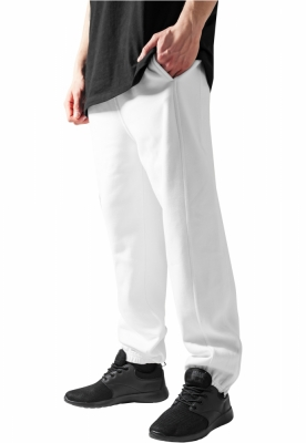 Pantaloni trening rapper alb Urban Classics