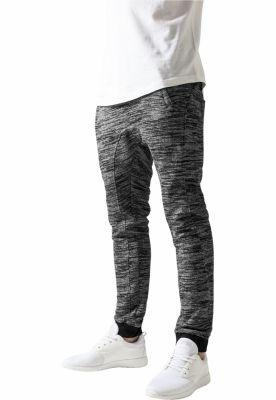Pantaloni trening slim negru-gri Urban Classics