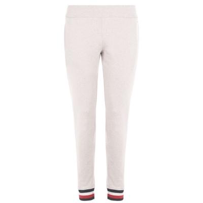 Pantaloni trening Tommy Bodywear cu dungi cu mansete roz hthr