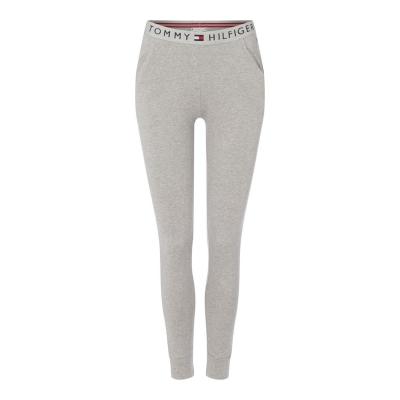 Pantaloni trening Tommy Bodywear Logo cu mansete gri hthr