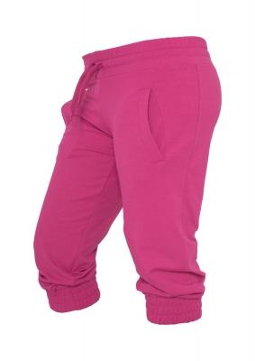 Pantaloni trening trei sferturi dama fucsia Urban Classics