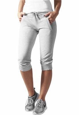 Pantaloni trening trei sferturi dama gri Urban Classics