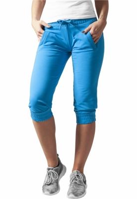 Pantaloni trening trei sferturi dama turcoaz Urban Classics