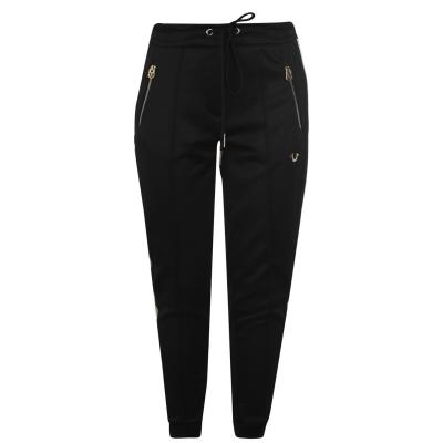 Pantaloni TRUE RELIGION cu dungi negru auriu