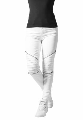 Pantaloni urban biker alb Urban Classics