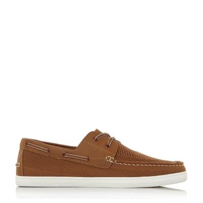 Pantofi barca Dune London Bonavista bej fabric