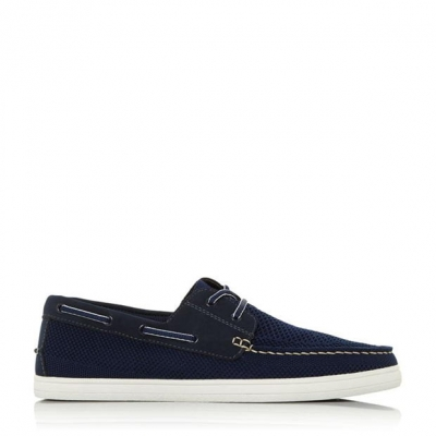 Pantofi barca Dune London Bonavista bleumarin fabric